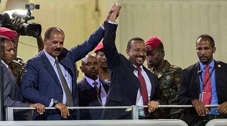 ethiopia eritrea leaders celebrate new year at war ravaged border