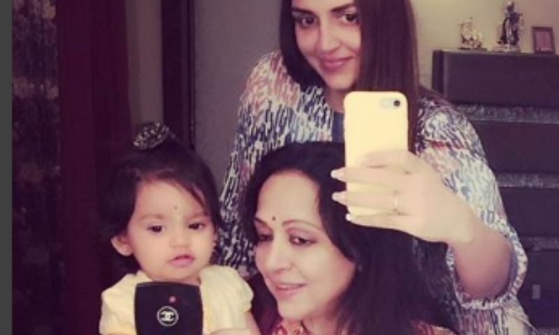 Esha Deol shares a picture of the three generations with
