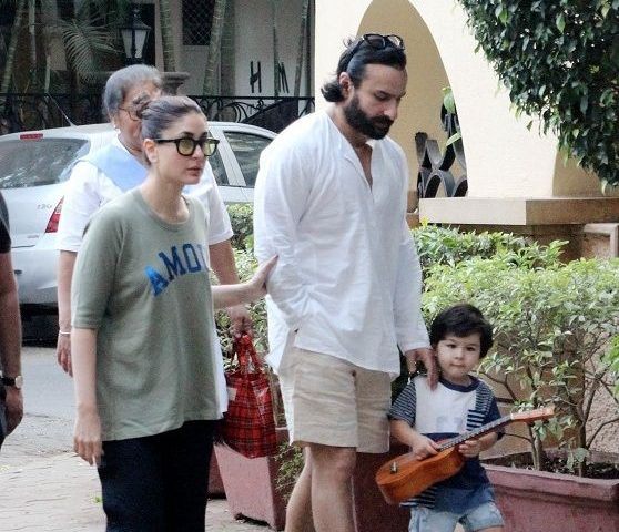 Taimur Ali Khan seems to be taking guitar lessons from dad