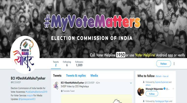 Election Commission of India is finally on Twitter | Top