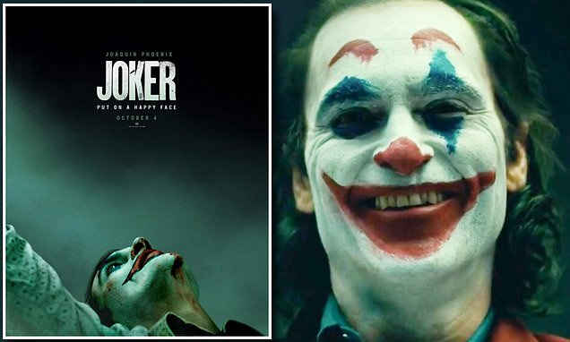 Joaquin Phoenix 'puts on a happy face' in first Joker